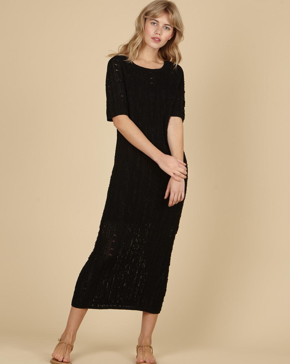 12Storeez Ажурное платье (черный) SS19