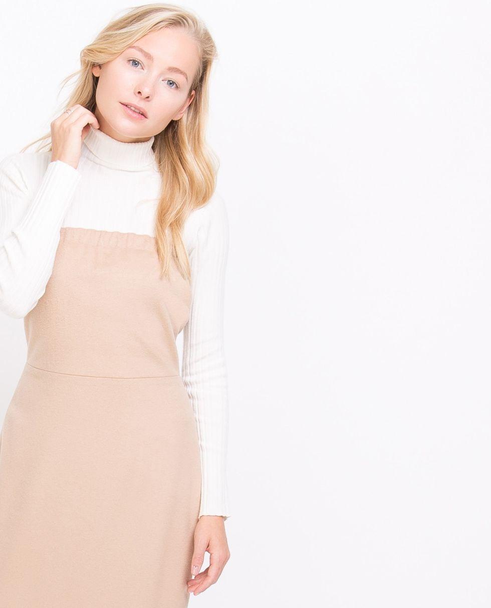 Платье без бретелей из кашемира SПлатья<br><br><br>Артикул: 8294755<br>Размер: S<br>Цвет: Бежевый<br>Новинка: НЕТ<br>Наименование en: None