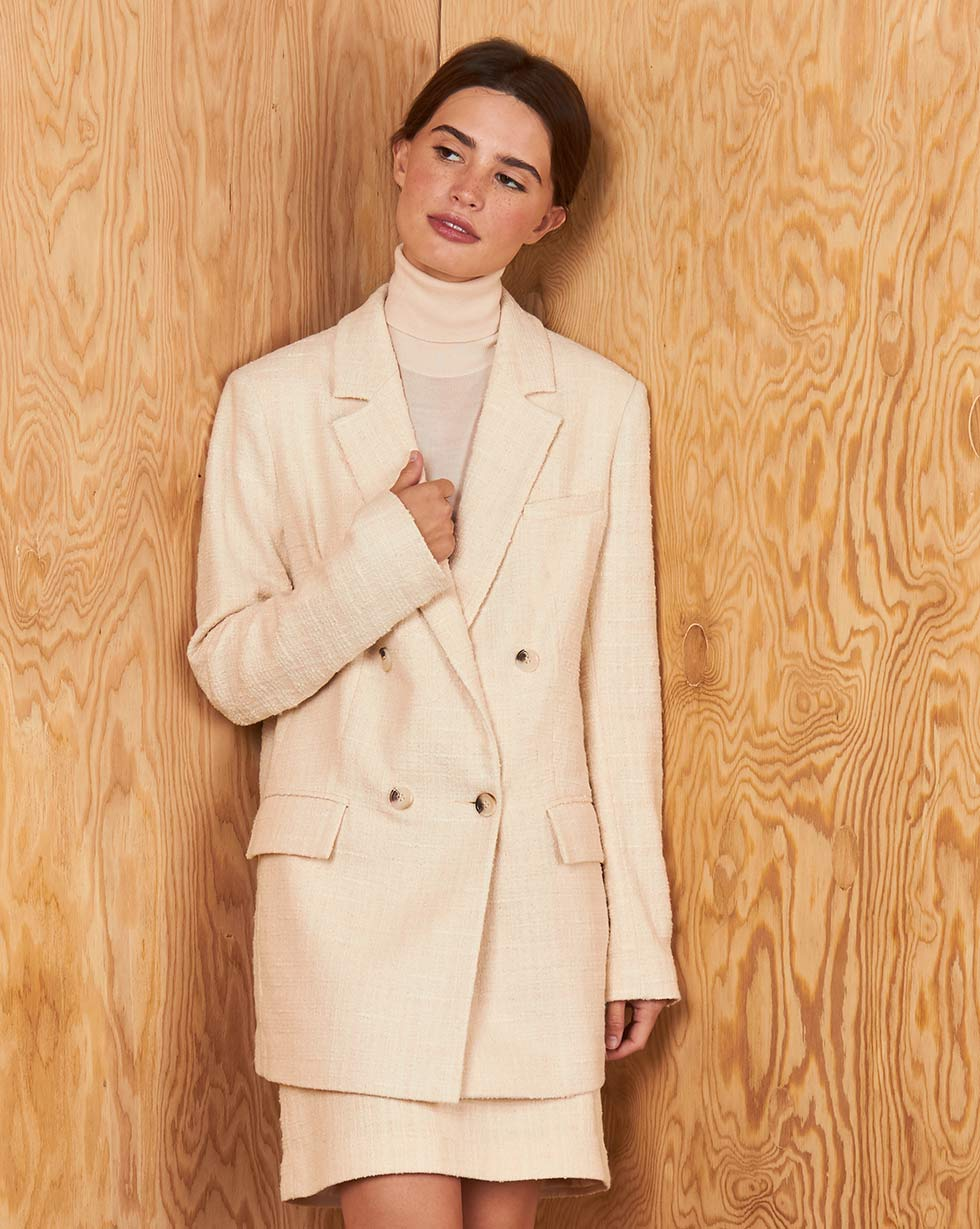 12Storeez Пиджак Z3838-001 (Молочный) пиджак с отложным воротником b young