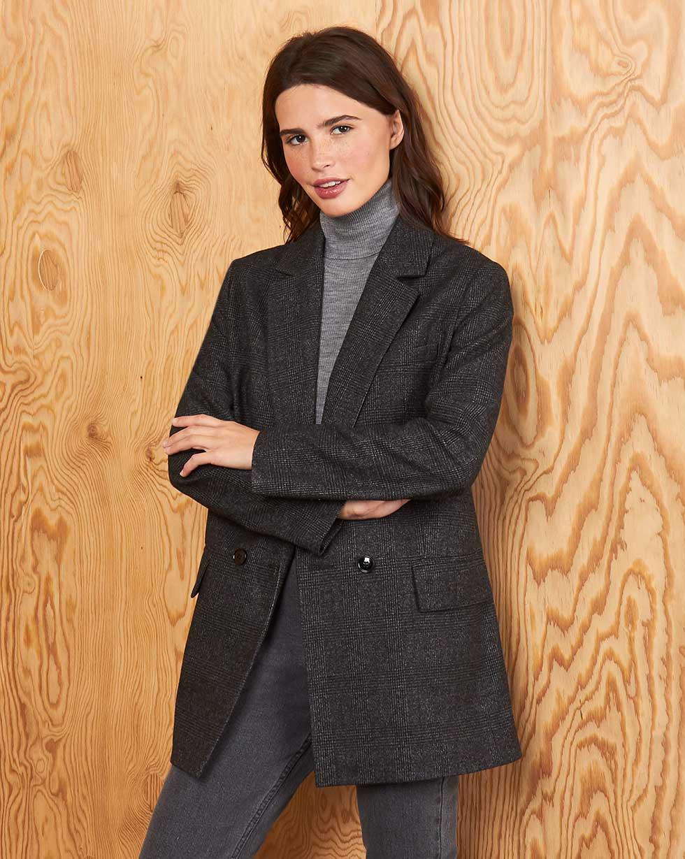 12Storeez Пиджак Z3838-001 (Серый1) пиджак с отложным воротником b young