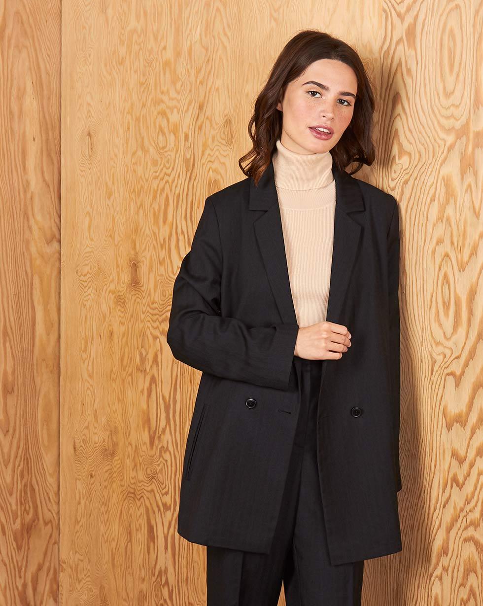 Пиджак двубортный S фото