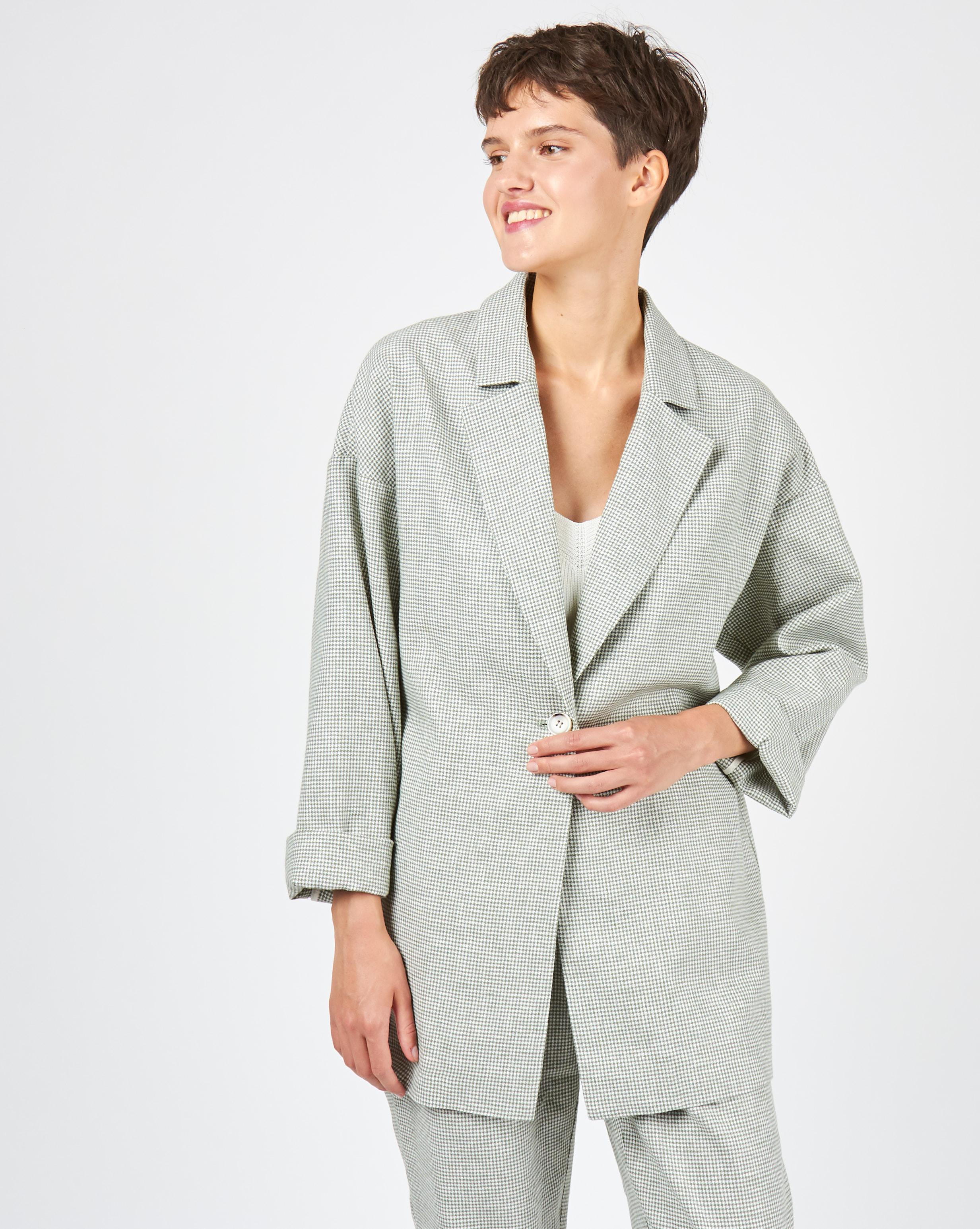 Пиджак свободного кроя изо льна M