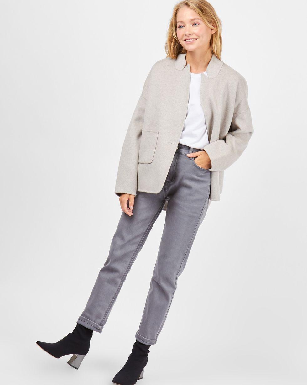 Пальто-жакет One sizeВерхняя одежда<br><br><br>Артикул: 79910122<br>Размер: One size<br>Цвет: Светло-серый<br>Новинка: НЕТ<br>Наименование en: Wool blend jacket
