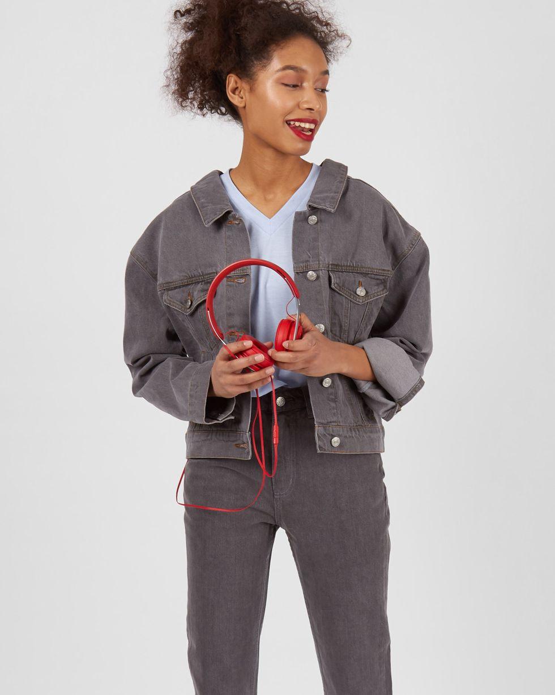 Джинсовая куртка One sizeЖакеты<br><br><br>Артикул: 79911275<br>Размер: One size<br>Цвет: Темно-серый<br>Новинка: НЕТ<br>Наименование en: Denim jacket