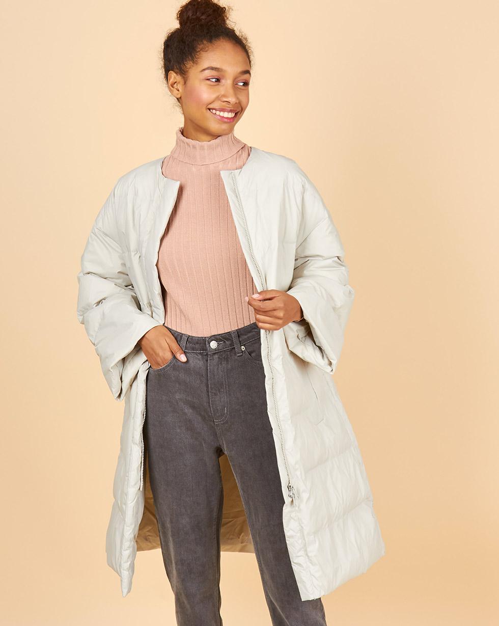 12Storeez Пальто стеганое облегченное ss2018 (светло-серое) пальто короткое стеганое