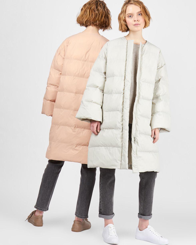12Storeez Пальто стеганое облегченное (светло-серое)