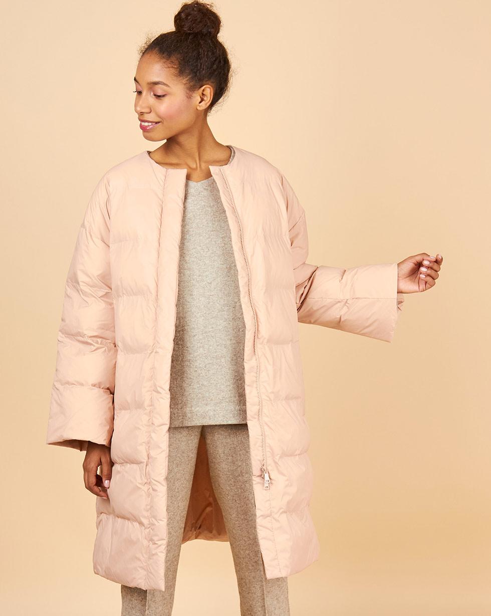 12Storeez Пальто стеганое облегченное ss2018 (розовое) пальто короткое стеганое