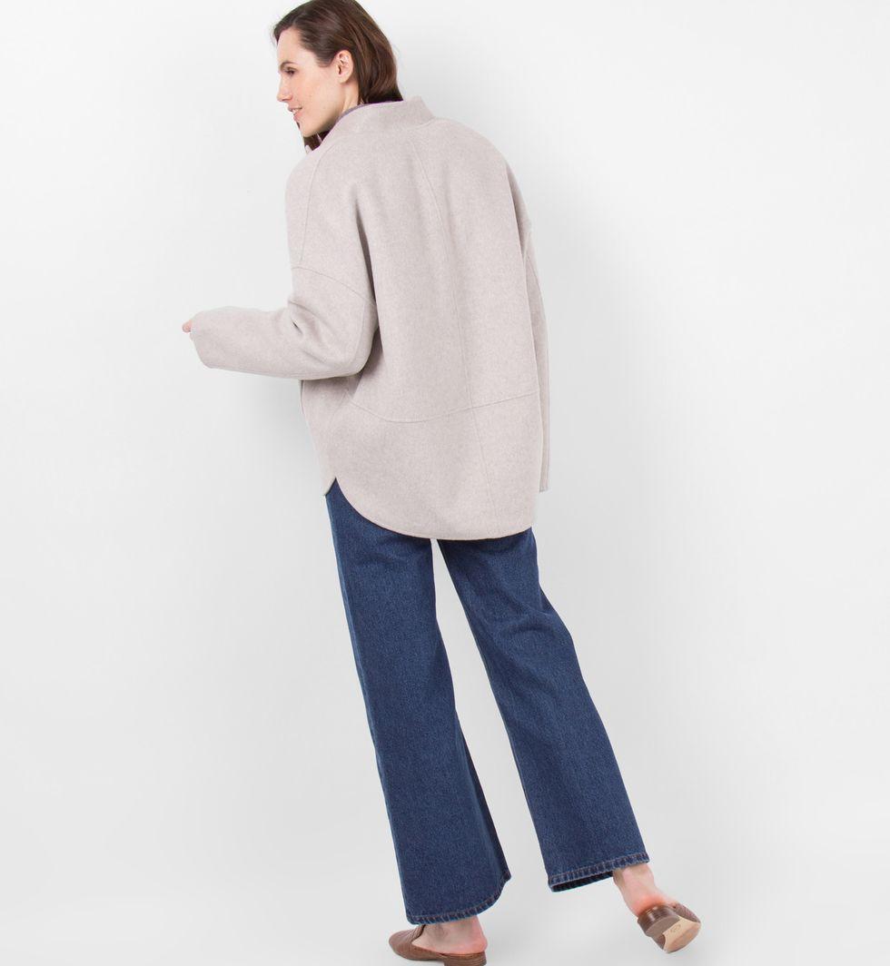 12Storeez Пальто-жакет (светло-серое) жакет свободного покроя с вышивкой в стиле милитари