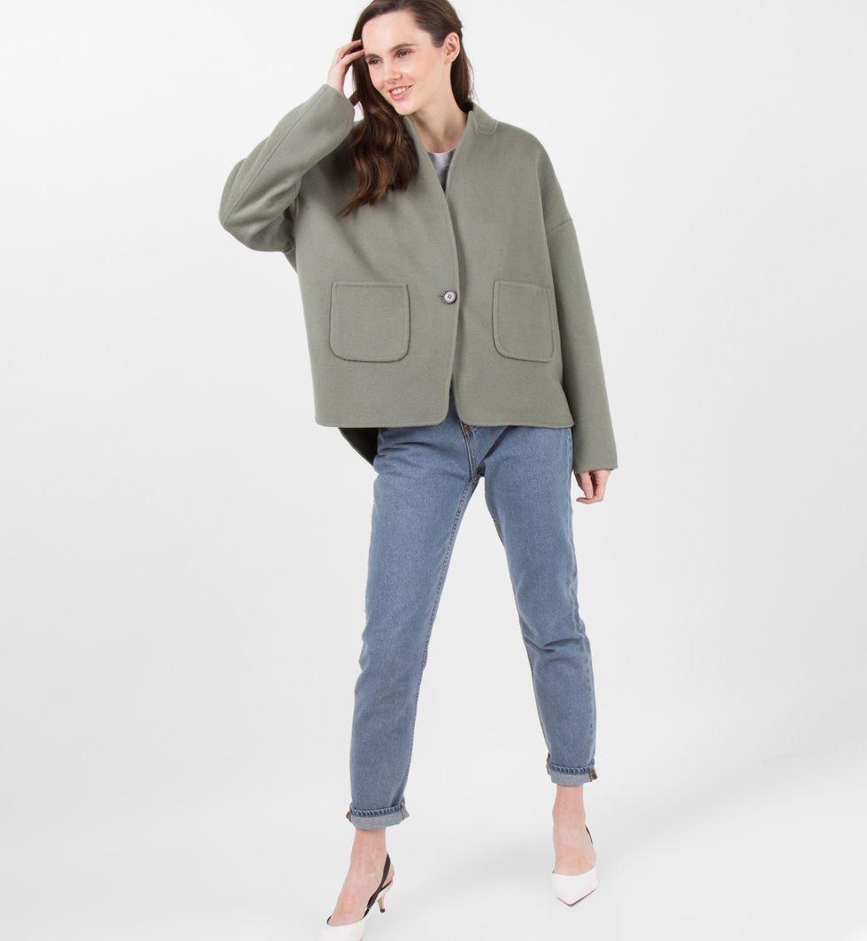Пальто-жакет One sizeверхняя одежда<br><br><br>Артикул: 7997969<br>Размер: One size<br>Цвет: Светло-зеленый<br>Новинка: НЕТ<br>Наименование en: Wool blend jacket