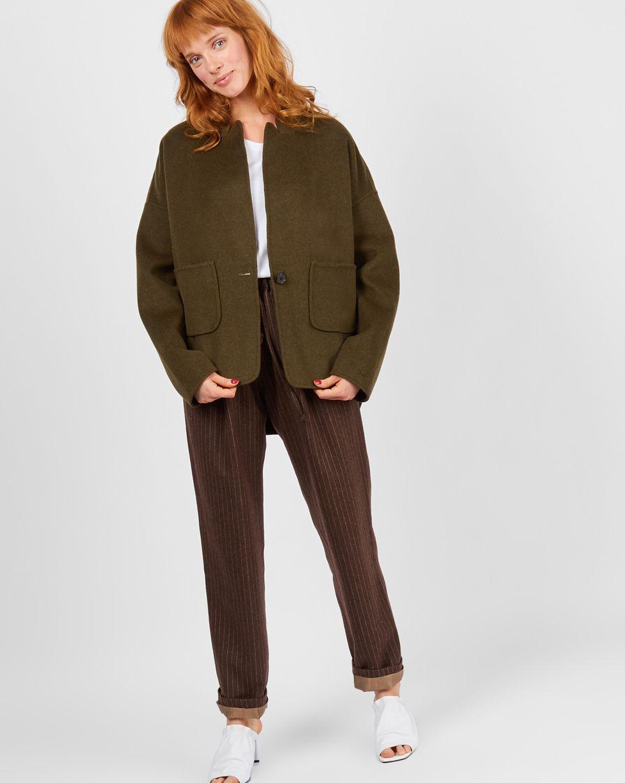 12Storeez Пальто-жакет (зеленое) пальто