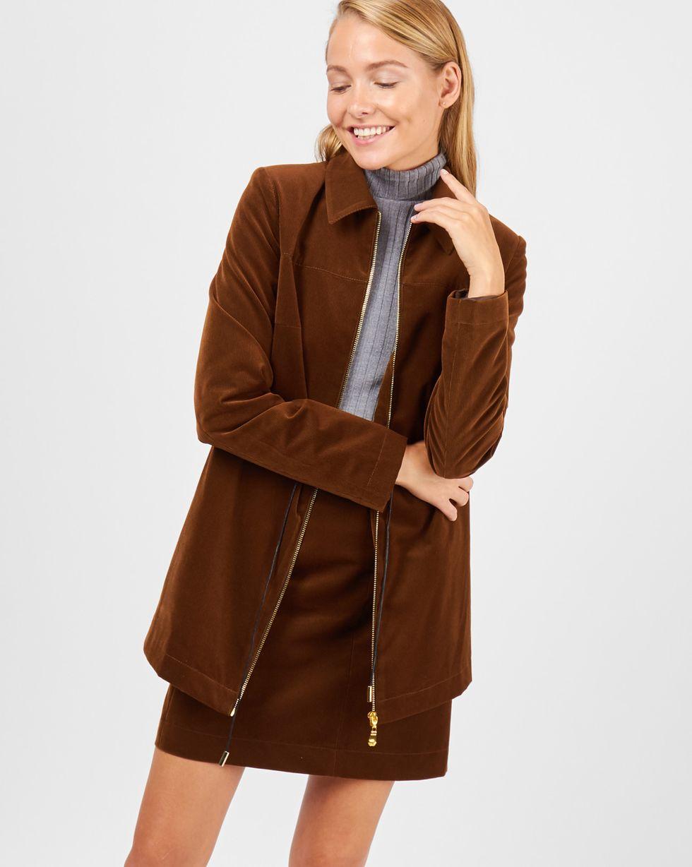 Жакет на молнии из вельвета XSЖакеты<br><br><br>Артикул: 93011012<br>Размер: XS<br>Цвет: Коричневый<br>Новинка: НЕТ<br>Наименование en: Corduroy zip jacket