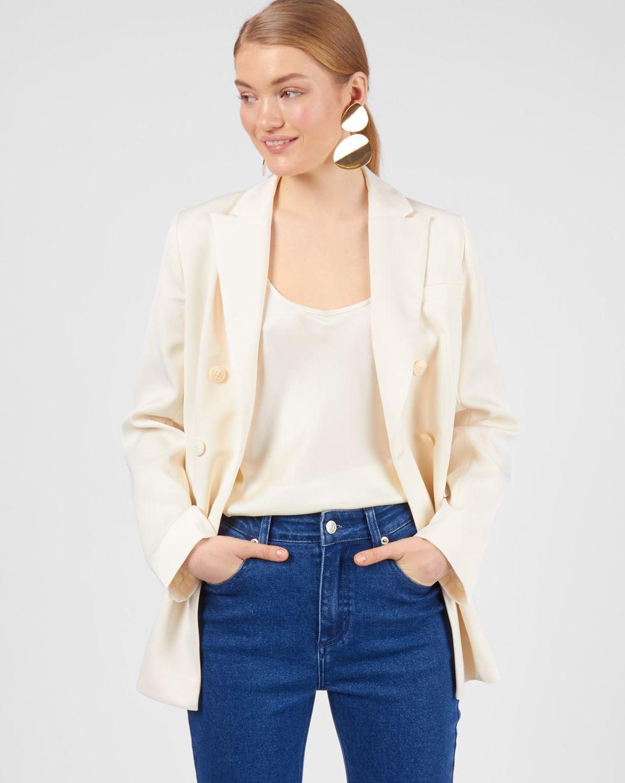Пиджак двубортный XSЖакеты<br><br><br>Артикул: 93012126<br>Размер: XS<br>Цвет: Молочный<br>Новинка: НЕТ<br>Наименование en: Tailored double-breasted jacket