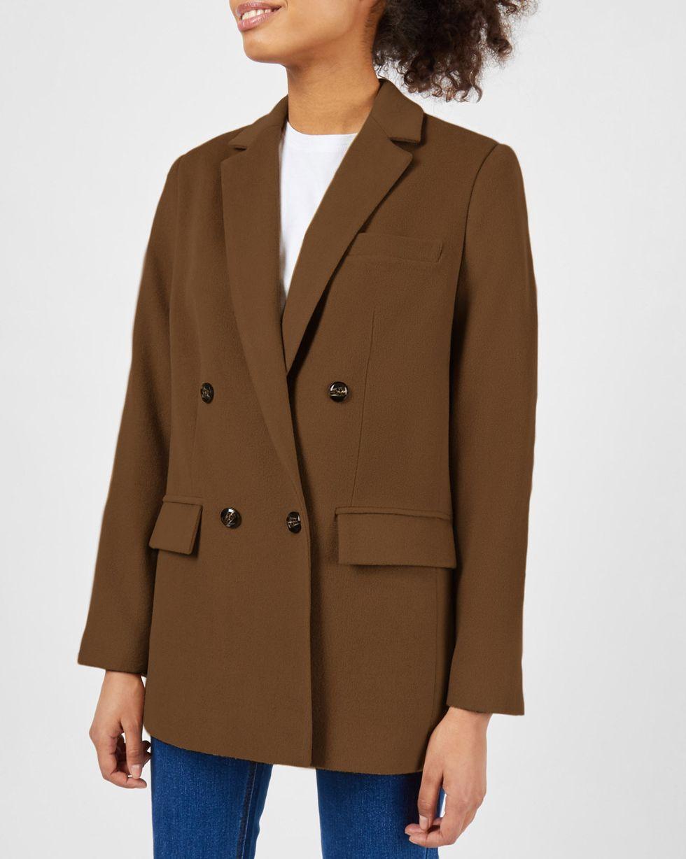 12Storeez Пиджак двубортный из плотной шерсти (горчичный) 12storeez пиджак двубортный из плотной шерсти горчичный