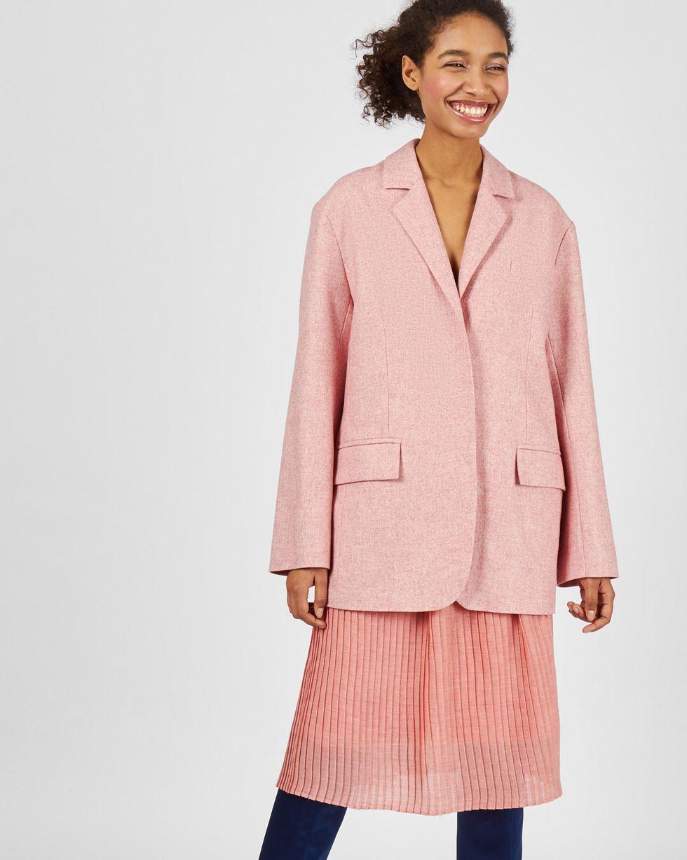 12Storeez Пиджак классический с объемными плечами (розовый)