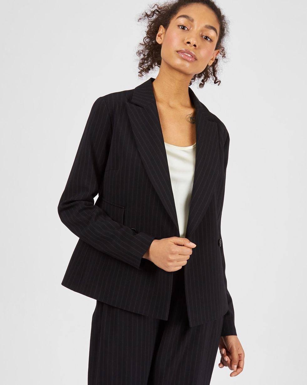 12Storeez Жакет облегченный в полоску (черный) 12storeez комплект жакет облегченный и юбка мини коричневый