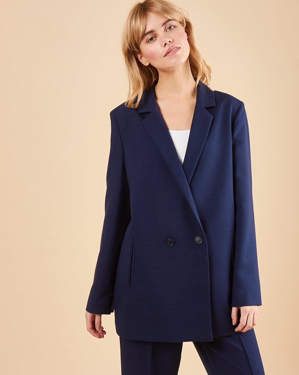 12Storeez Пиджак двубортный (синий) cruciani двубортный вязаный пиджак
