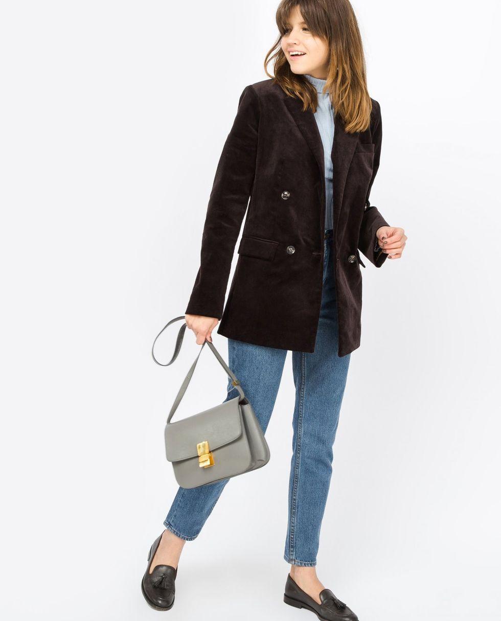 12Storeez Пиджак двубортный вельвет (коричневый) пиджак с застежкой на пуговицы sartorio