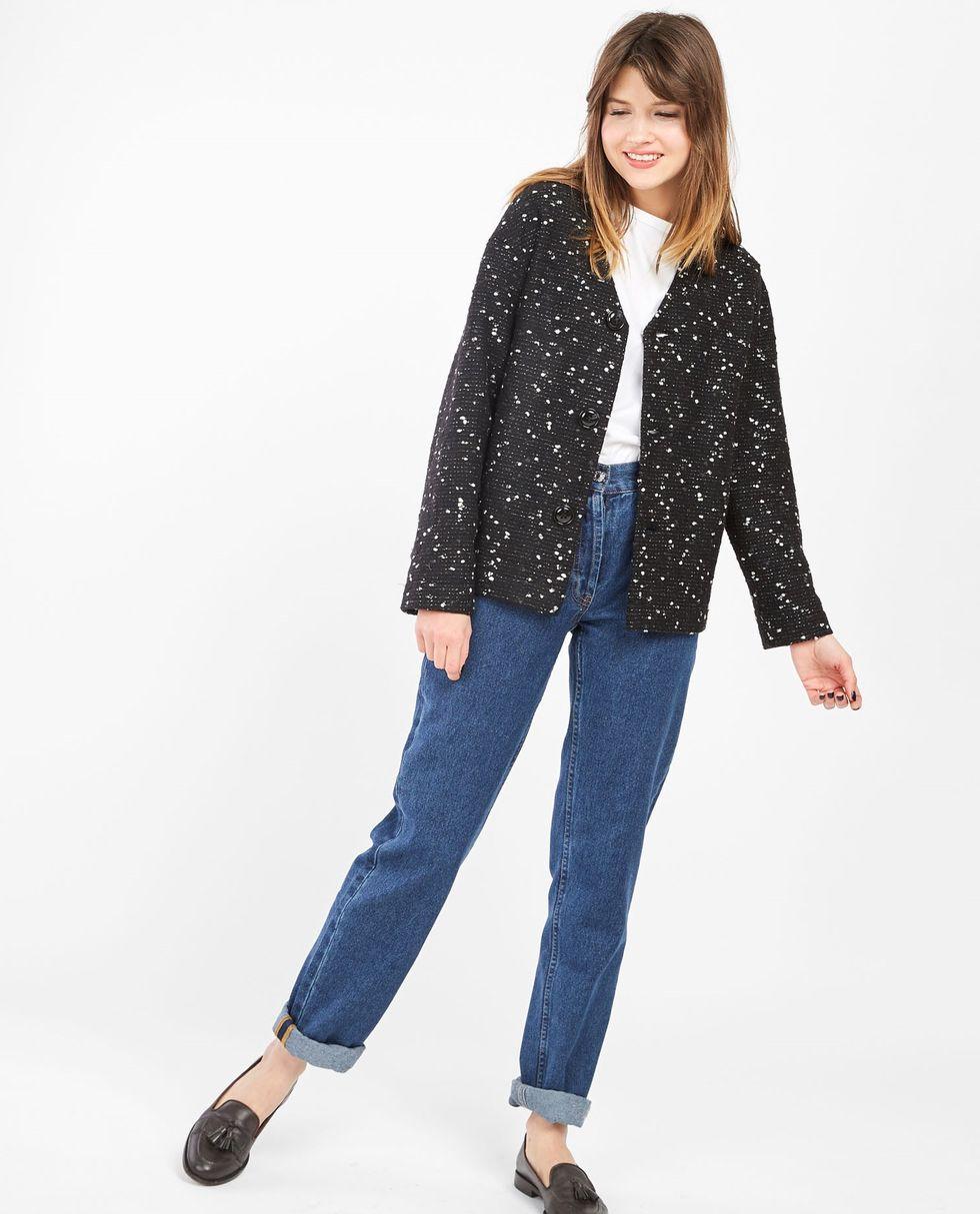 Жакет из шерсти на пуговицах Sжакеты<br><br><br>Артикул: 9307571<br>Размер: S<br>Цвет: Черный<br>Новинка: НЕТ<br>Наименование en: Wool button jacket