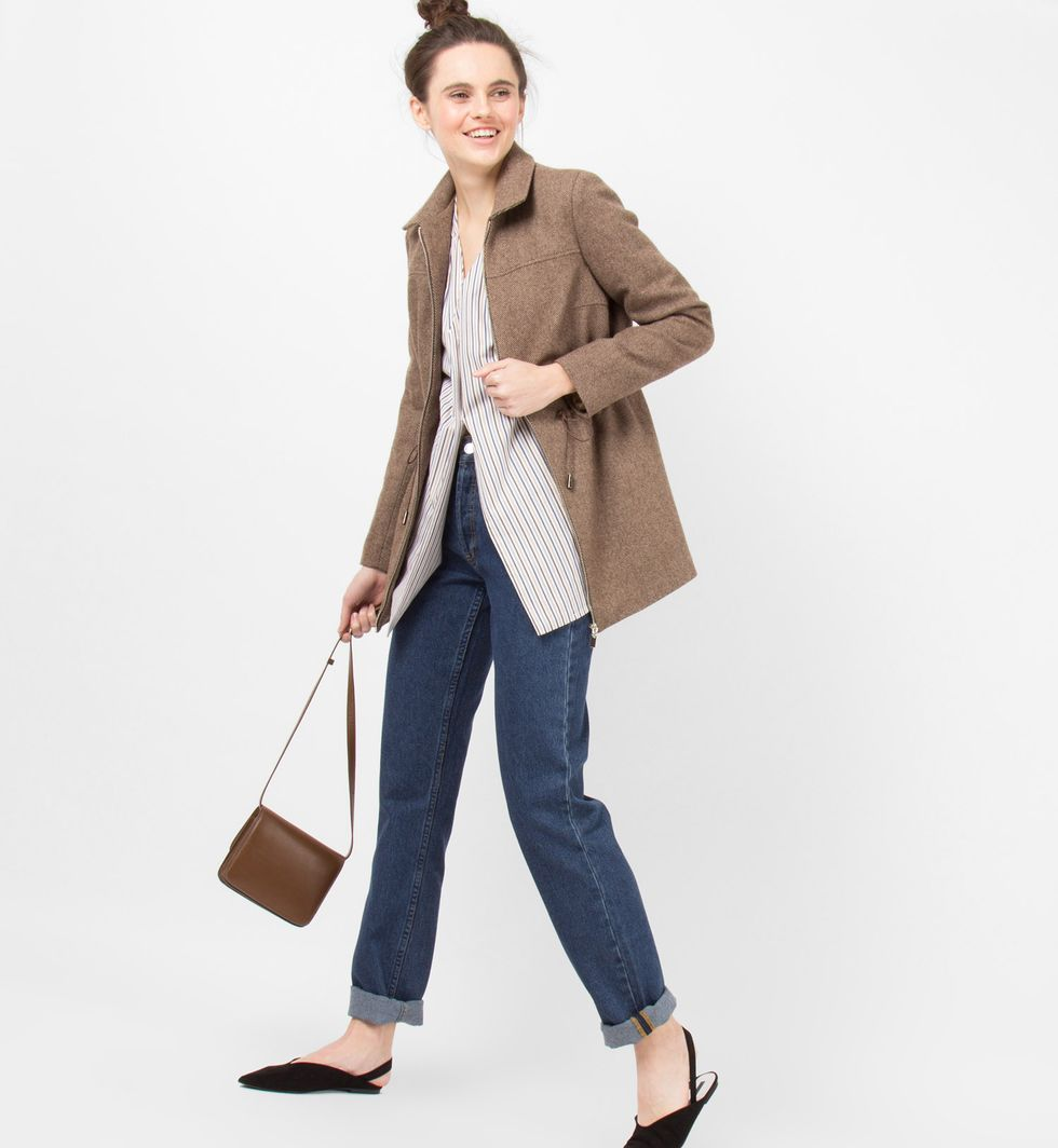 Жакет на молнии с кулисой XSЖакеты<br><br><br>Артикул: 9307809<br>Размер: XS<br>Цвет: Коричневый меланж<br>Новинка: НЕТ<br>Наименование en: Drawstring waist zip jacket
