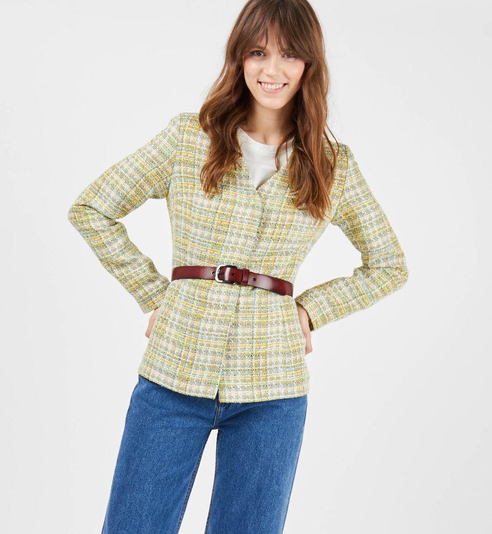 Жакет цветной Mжакеты<br><br><br>Артикул: 9308137<br>Размер: M<br>Цвет: Зеленый<br>Новинка: НЕТ<br>Наименование en: Check pattern jacket