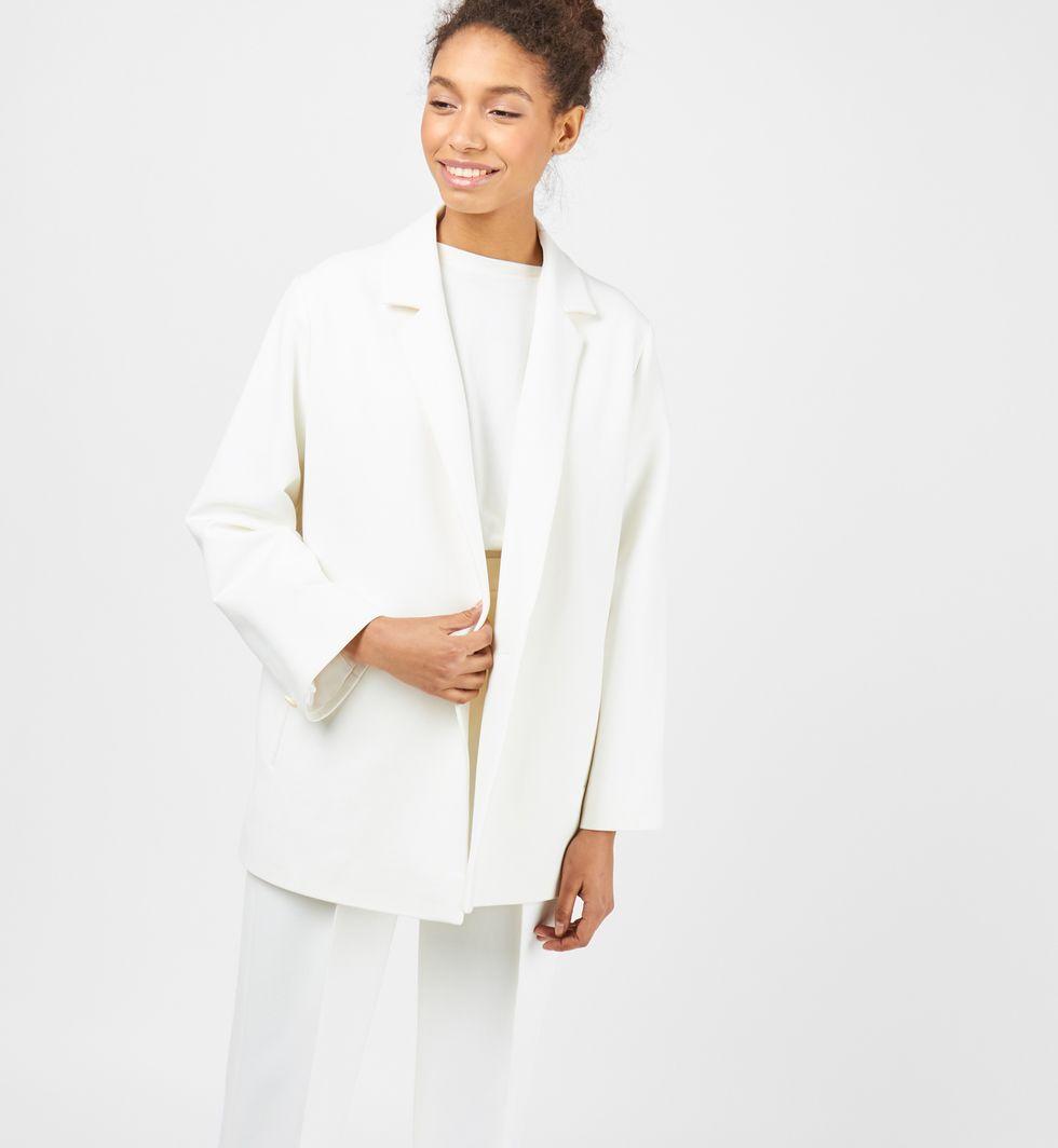 12Storeez Пиджак двубортный (белый) 12storeez пиджак двубортный из плотной шерсти горчичный