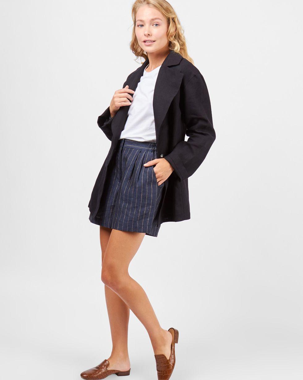 12Storeez Пиджак изо льна (черный) пиджак костюмный из льна
