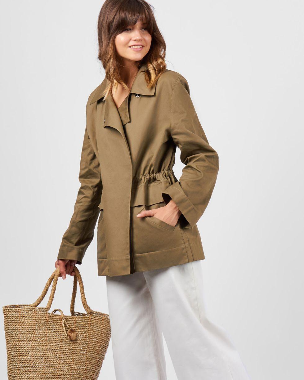 Жакет укороченный SВерхняя одежда<br><br><br>Артикул: 9309458<br>Размер: S<br>Цвет: Хаки<br>Новинка: НЕТ<br>Наименование en: Drawstring jacket