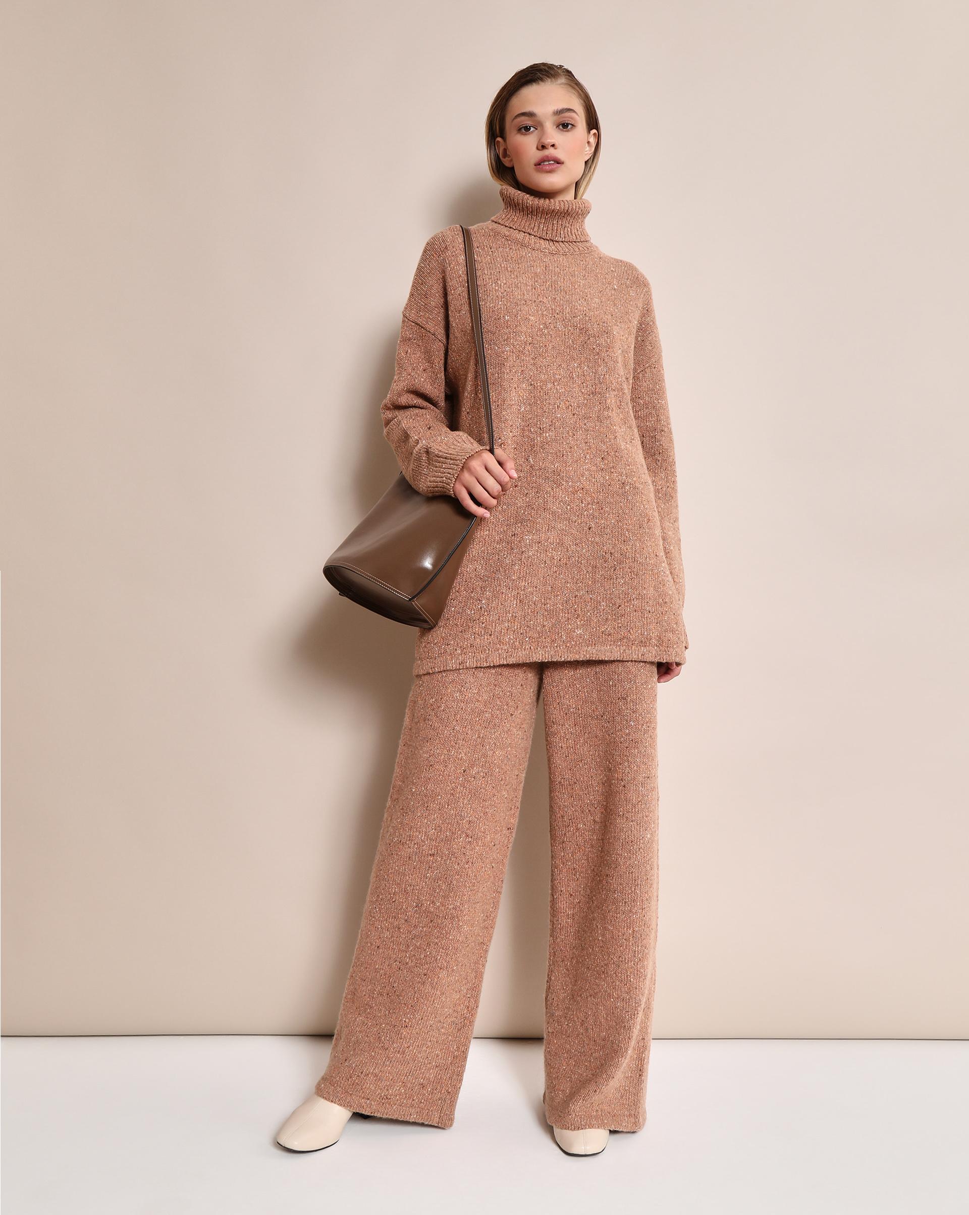 Широкие брюки (Терракотовый меланж)