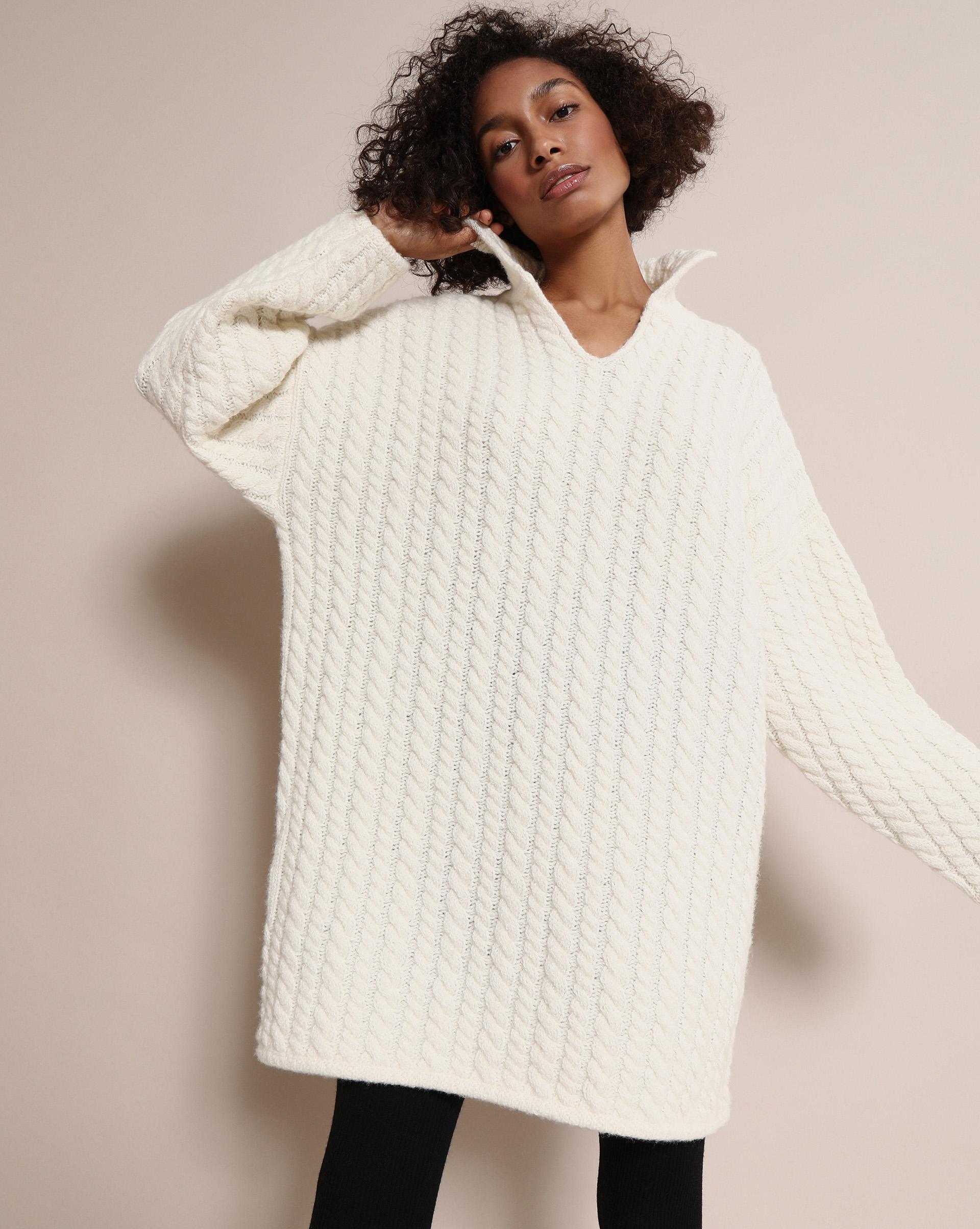 12STOREEZ Свитер с фактурным переплетением 12storeez свитер с косами