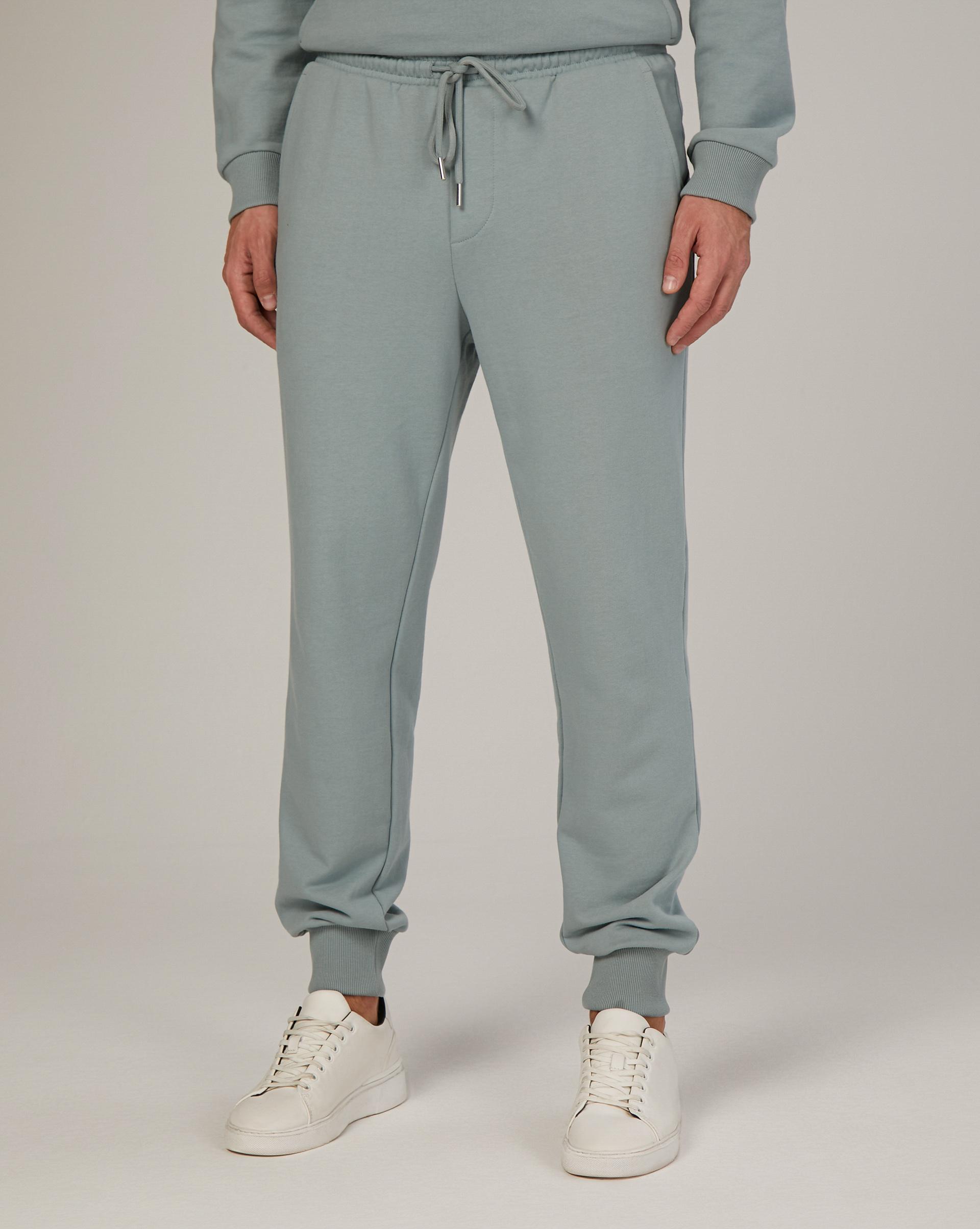 Спортивные брюки с накладным карманом (Сине-голубой)