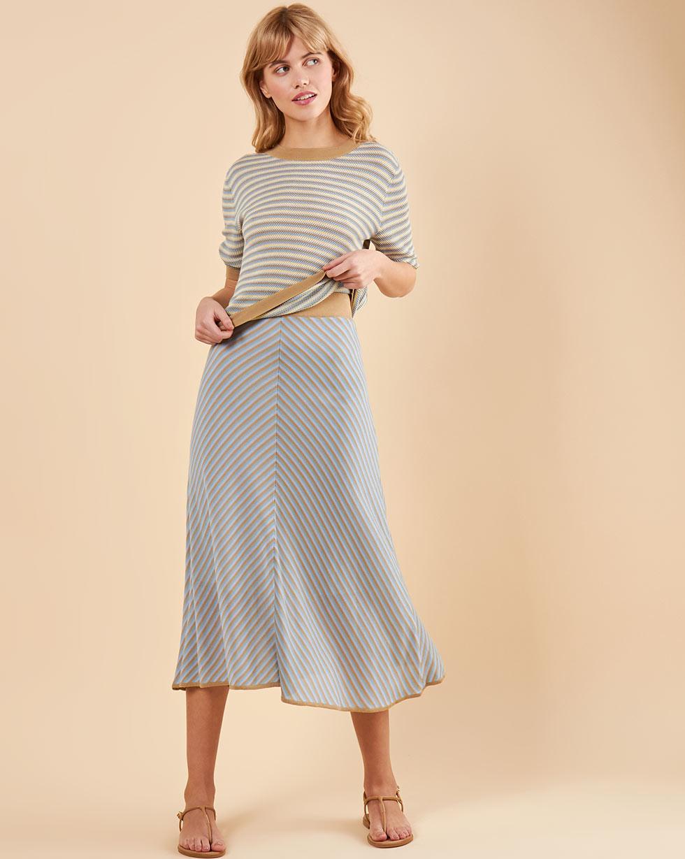 цена на 12Storeez Костюм в полоску: юбка и топ мультиколор