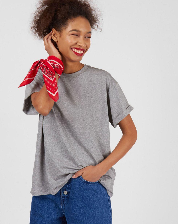 Футболка в мужском стиле One sizeФутболки и толстовки<br><br><br>Артикул: 82813054<br>Размер: One size<br>Цвет: Меланж серый<br>Новинка: НЕТ<br>Наименование en: Boyfriend t-shirt