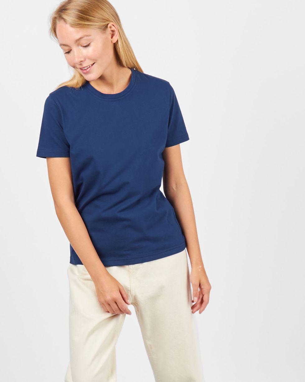 Футболка базовая SТрикотаж<br><br><br>Артикул: 84410353<br>Размер: S<br>Цвет: Синий<br>Новинка: НЕТ<br>Наименование en: Basic T-shirt