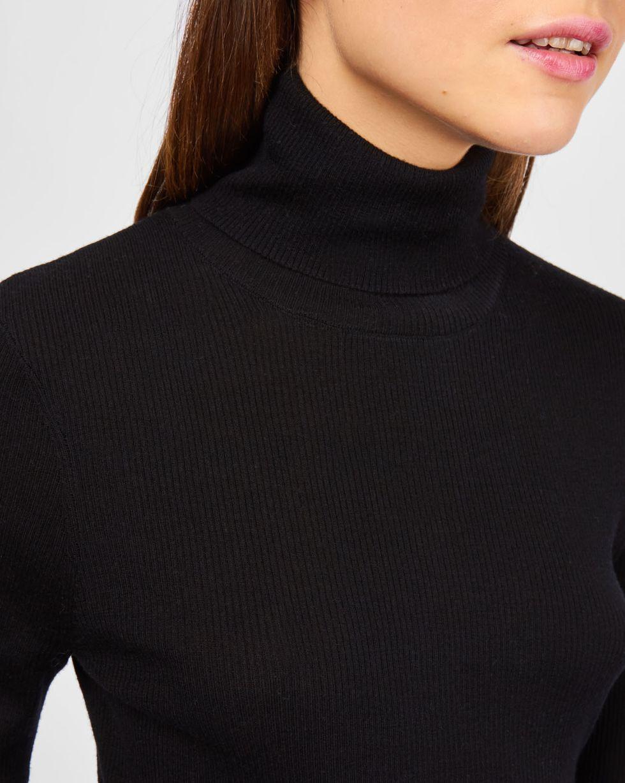 Водолазка тонкой вязки One sizeТрикотаж<br><br><br>Артикул: 84410565<br>Размер: One size<br>Цвет: Черный<br>Новинка: НЕТ<br>Наименование en: Fine-knit turtleneck sweater