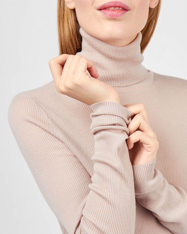 Водолазка тонкой вязки One sizeТрикотаж<br><br><br>Артикул: 84410567<br>Размер: One size<br>Цвет: Бежевый<br>Новинка: НЕТ<br>Наименование en: Fine-knit turtleneck sweater
