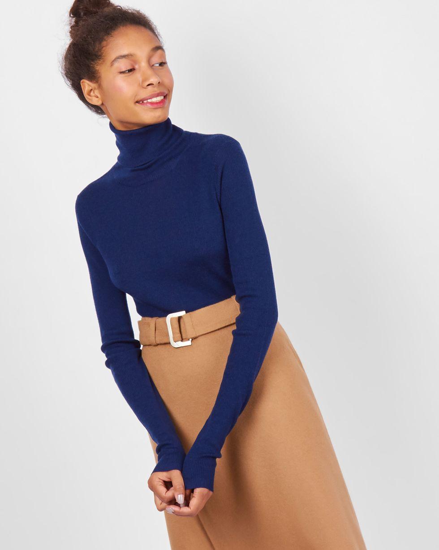 Водолазка тонкой вязки One sizeТрикотаж<br><br><br>Артикул: 84410569<br>Размер: One size<br>Цвет: Темно-синий<br>Новинка: НЕТ<br>Наименование en: Fine-knit turtleneck sweater