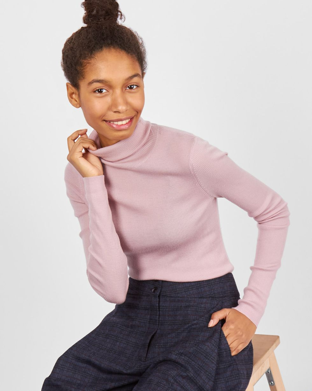 Водолазка тонкой вязки One sizeТрикотаж<br><br><br>Артикул: 84410572<br>Размер: One size<br>Цвет: Розовый<br>Новинка: НЕТ<br>Наименование en: Fine-knit turtleneck sweater