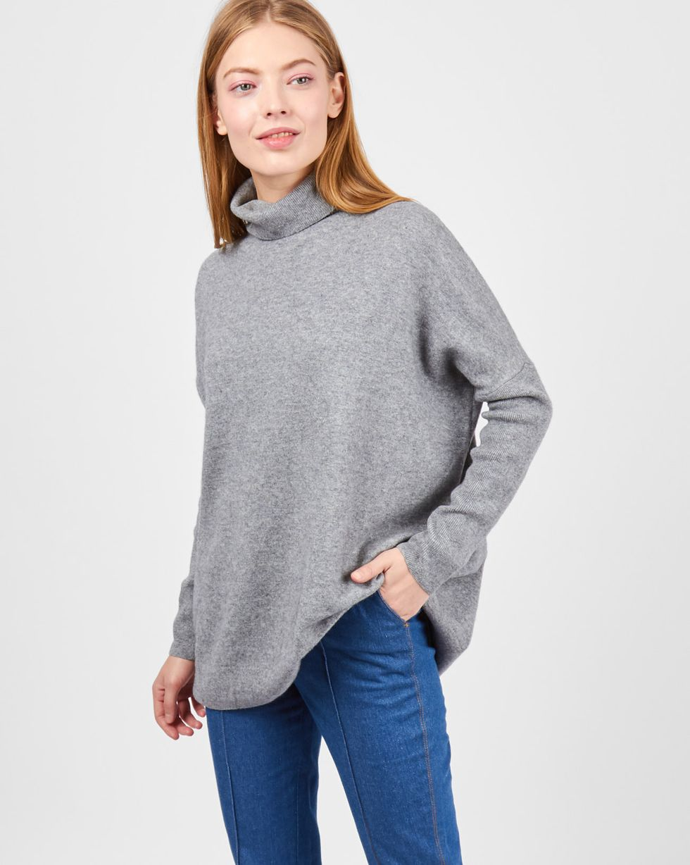 Свитер объёмный тонкой вязки SТрикотаж<br><br><br>Артикул: 84411144<br>Размер: S<br>Цвет: Серый<br>Новинка: НЕТ<br>Наименование en: Oversized fine-knit sweater