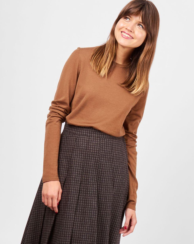 Свитер тонкой вязки XSТрикотаж<br><br><br>Артикул: 84411148<br>Размер: XS<br>Цвет: Светло-коричневый<br>Новинка: НЕТ<br>Наименование en: Fine-knit sweater