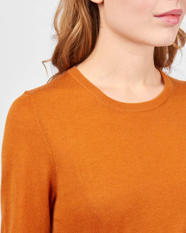 Свитер тонкой вязки XSТрикотаж<br><br><br>Артикул: 84411150<br>Размер: XS<br>Цвет: Рыжий<br>Новинка: НЕТ<br>Наименование en: Fine-knit sweater