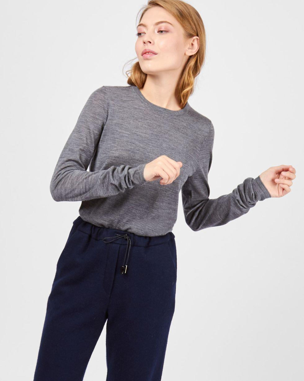 Свитер тонкой вязки MТрикотаж<br><br><br>Артикул: 84411152<br>Размер: M<br>Цвет: Серый<br>Новинка: НЕТ<br>Наименование en: Fine-knit sweater