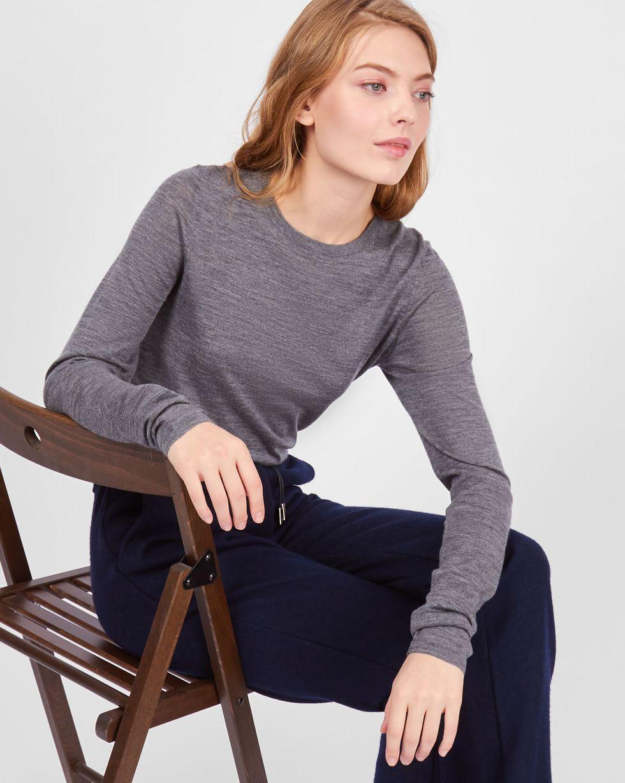 Свитер тонкой вязки SТрикотаж<br><br><br>Артикул: 84411152<br>Размер: S<br>Цвет: Серый<br>Новинка: НЕТ<br>Наименование en: Fine-knit sweater