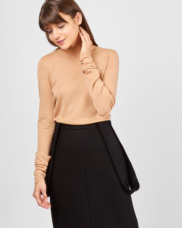 Свитер тонкой вязки LТрикотаж<br><br><br>Артикул: 84411153<br>Размер: L<br>Цвет: Песочный<br>Новинка: НЕТ<br>Наименование en: Fine-knit sweater