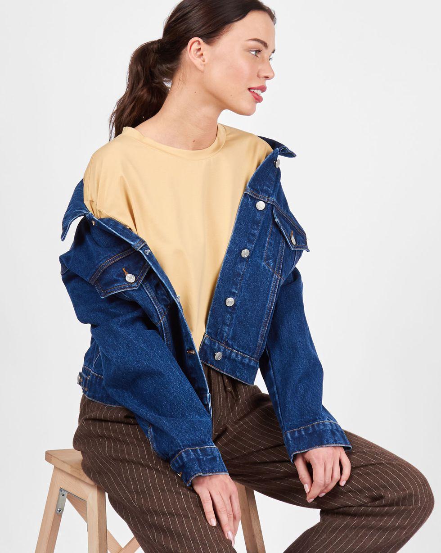 12Storeez Футболка в мужском стиле (бежевый) пальто в мужском стиле для женщин купить