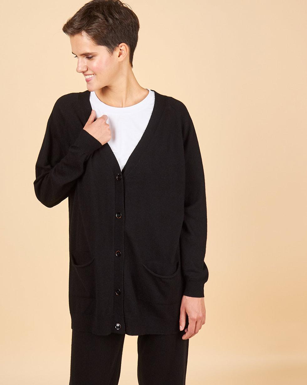 12Storeez Костюм: кардиган и брюки (черный) FW18-19 12storeez костюм свитер и брюки на завязках серый fw18