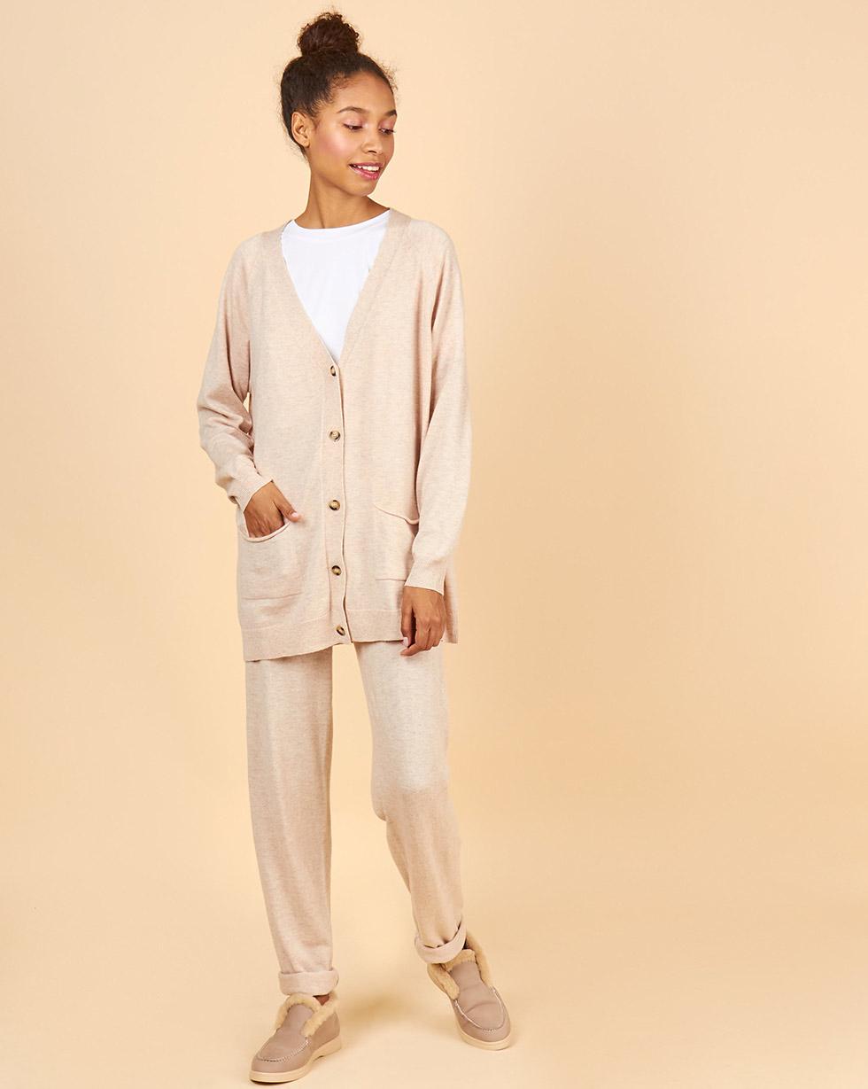 все цены на 12Storeez Костюм: кардиган и брюки (светло-бежевый) FW18-19