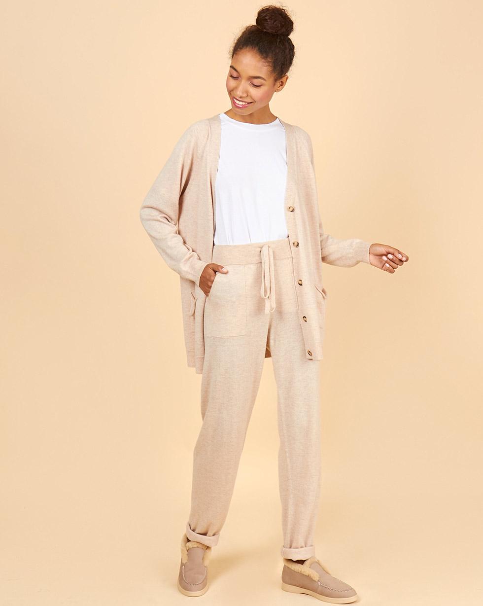 12Storeez Костюм: кардиган и брюки (светло-бежевый) FW18-19 12storeez костюм джемпер и брюки с карманами сиреневый