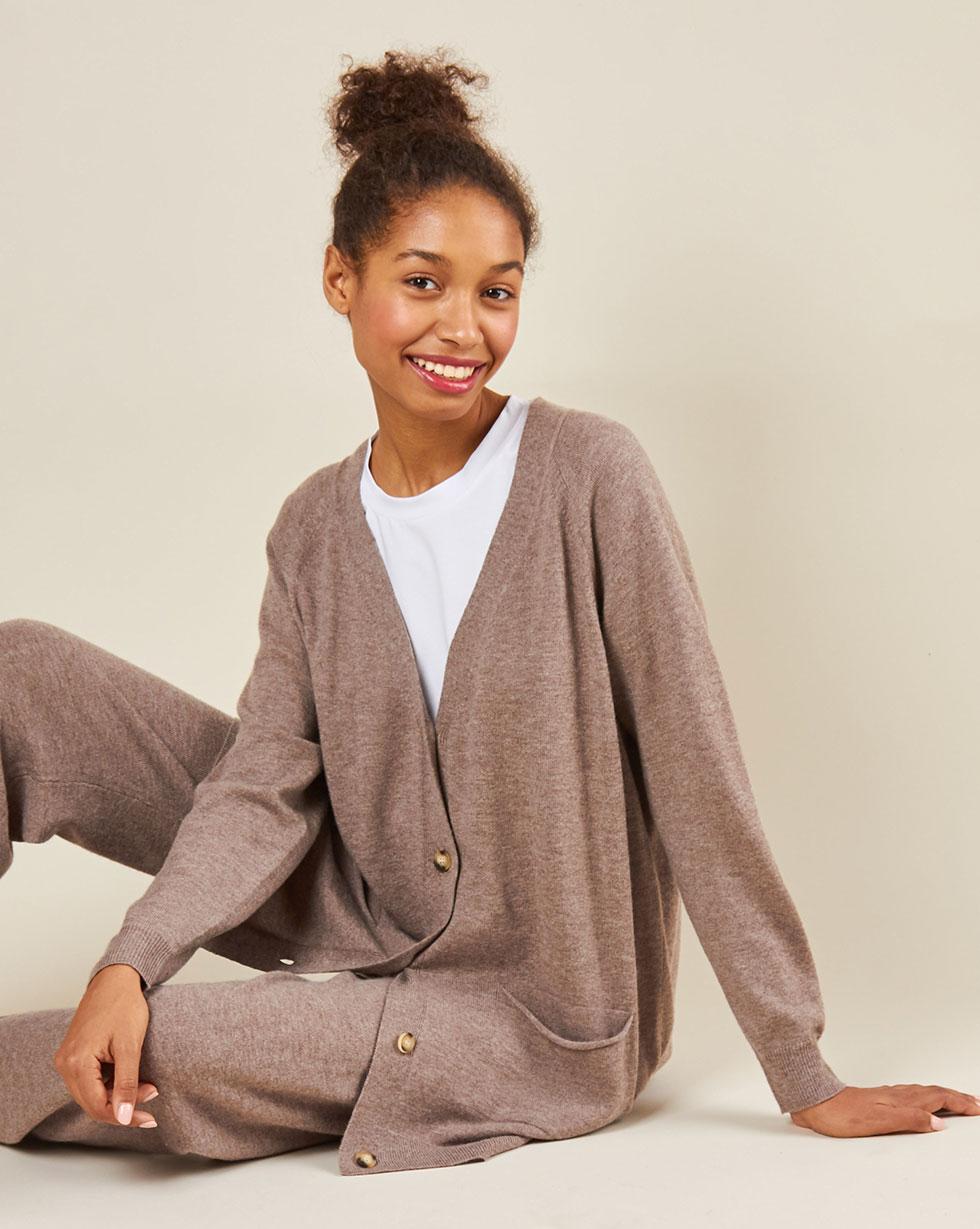 12Storeez Костюм: кардиган и брюки (кофейный) FW18-19 12storeez костюм свитер и брюки на завязках серый fw18