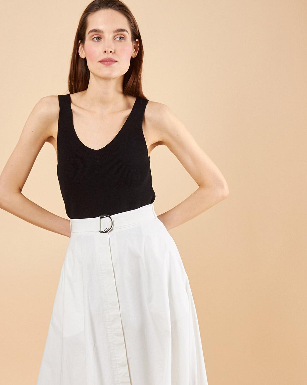 12Storeez Тoп с V-образным вырезом (черный) пуловер большого размера с v образным вырезом из тонкого трикотажа