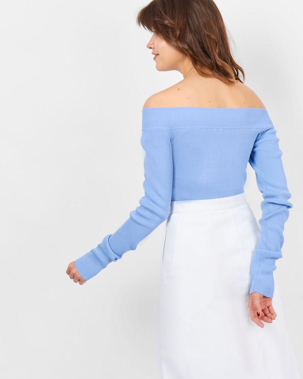 12Storeez Топ с открытыми плечами (незабудка) купить блочный арбалет scorhyd с обратными плечами